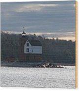 Round Island Lighthouse Wood Print