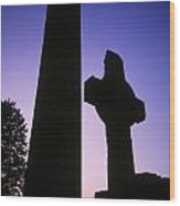 Round Tower And High Cross Wood Print