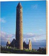 Round Tower Near Gort, Co Galway Wood Print