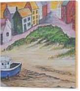 Roundstone Harbour  Wood Print by Siobhan Lawson