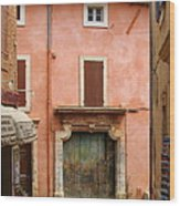 Roussillon Painted Door Wood Print