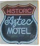 Route 66 Aztec Hotel Mural Wood Print