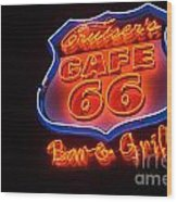 Route 66 Bar And Grill Wood Print