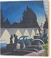 Route 66 Brandon Mural Wood Print