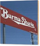 Route 66 Burma Shave Wood Print