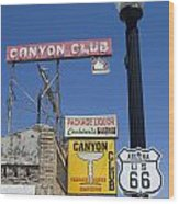 Route 66 Canyon Club Wood Print