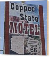 Route 66 Copper State Motel Wood Print