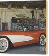 Route 66 Corvette Wood Print