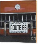 Route 66 Corvette Grill Wood Print