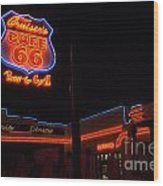 Route 66 Cruisers Wood Print