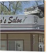 Route 66 Desotos Salon Wood Print