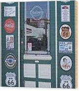 Route 66 Doorway Wood Print
