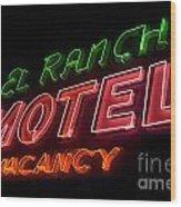 Route 66 El Rancho Wood Print