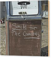 Route 66 Gas Pump Humor Wood Print