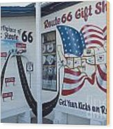 Route 66 Gift Shop Wood Print