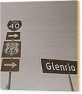 Route 66 - Glenrio Texas Wood Print