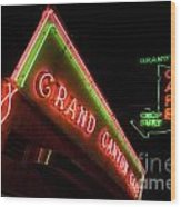 Route 66 Grand Canyon Neon Wood Print