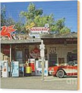 Route 66 Hackberry Arizona Wood Print