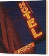 Route 66 Hotel Williams Wood Print