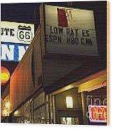 Route 66 Inn Wood Print