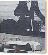 Route 66 Marlon Brando Mural Wood Print
