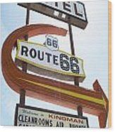 Route 66 Motel Sign 1 Wood Print