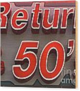 Route 66 Return To The 50s Wood Print