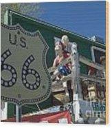 Route 66 Seligman Arizona Wood Print