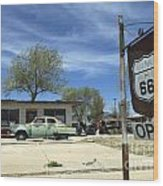 Route 66 Still Open Wood Print