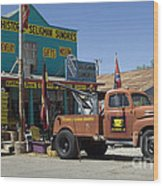 Route 66 The Real Mader Wood Print