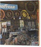 Route 66 Vintage Garage Wood Print