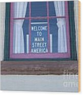 Route 66 Welcome Sign Wood Print