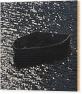Row Boat In The Sun Wood Print
