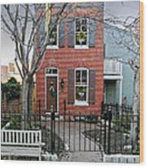 Row Home Contradiction Wood Print