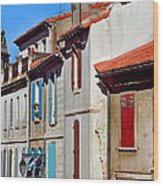 Row Of Houses In Arles Provence Wood Print