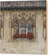 Row Of Windows In Treviso Italy Wood Print
