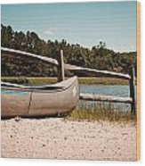 Row Your Boat Wood Print
