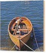 Rowboat Wood Print by Joana Kruse