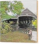 Rowell Covered Bridge Wood Print
