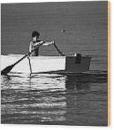 Rowing Wood Print