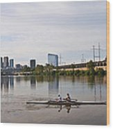 Rowing The Schuylkill Wood Print