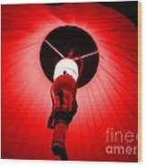Roxannes Red Light Wood Print