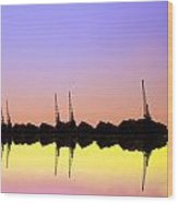 Royal Docks Cranes  Art Wood Print