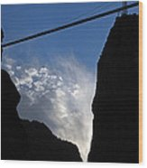 Royal Gorge Bridge And Sky Wood Print