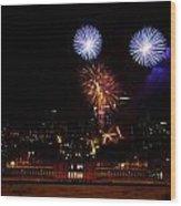 Royal Greenwich Fireworks Wood Print