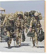 Royal Marines Haul Their Equipment Wood Print