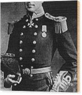 Royal Navy Officer And Antarctic Wood Print