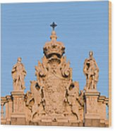 Royal Palace In Madrid Architectural Details Wood Print