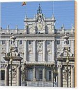 Royal Palace In Madrid Wood Print