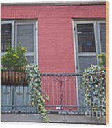 Royal Street Balcony Wood Print